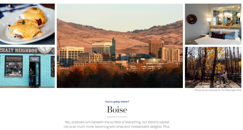 Boise freelance photographer Joe Jaszewski's work was recently featured in the Washington Post's travel section.