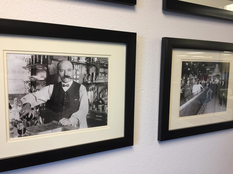 In the lobby of their Meridian office, the Alcohol Beverage Control unit of the Idaho State Police have historical photos related to tippling.