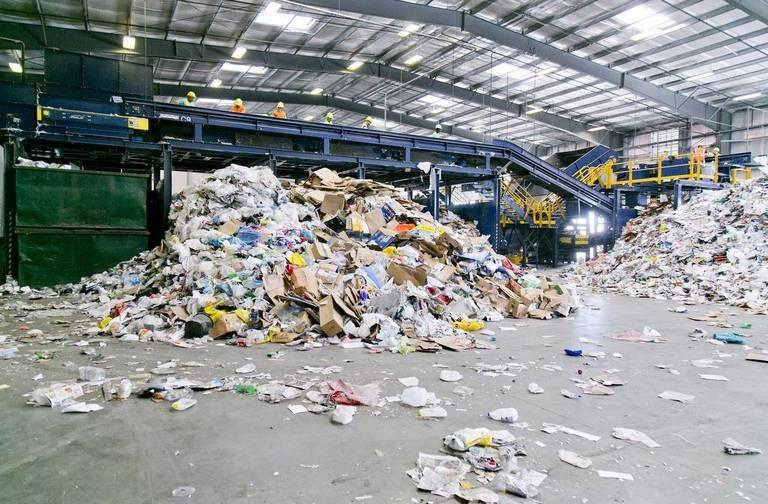 Materials get sorted at the Western Recycling facility in Boise. Starting later in the spring, some plastics will be sent to Utah to become synthetic diesel.