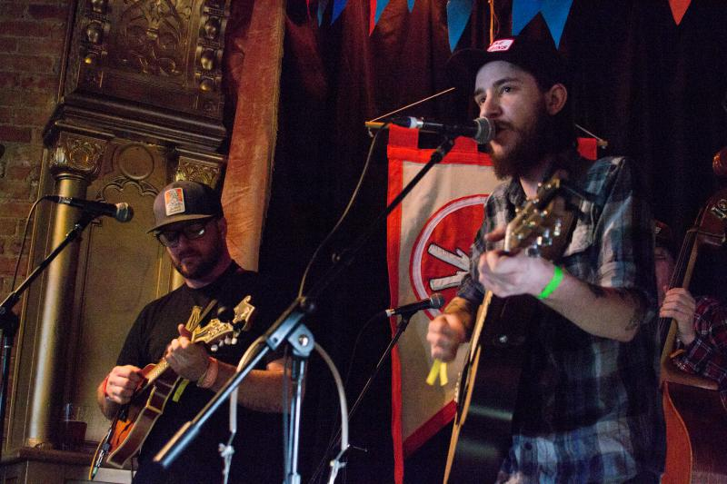 Boise's Fall Creek String Band got a warm welcome at Pengilly's Saloon Saturday afternoon.