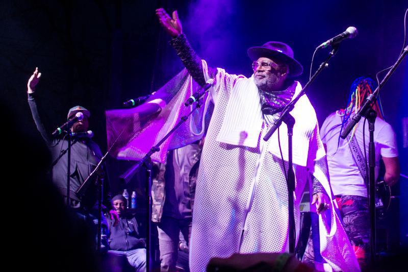 George Clinton shows his love to Boise during a packed performance at the Treefort main stage Friday night.