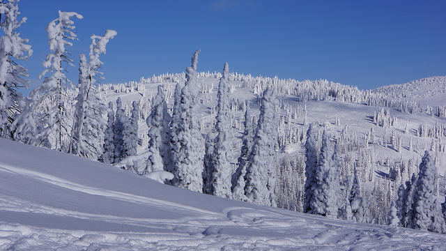 File photo of snowy Idaho mountains.