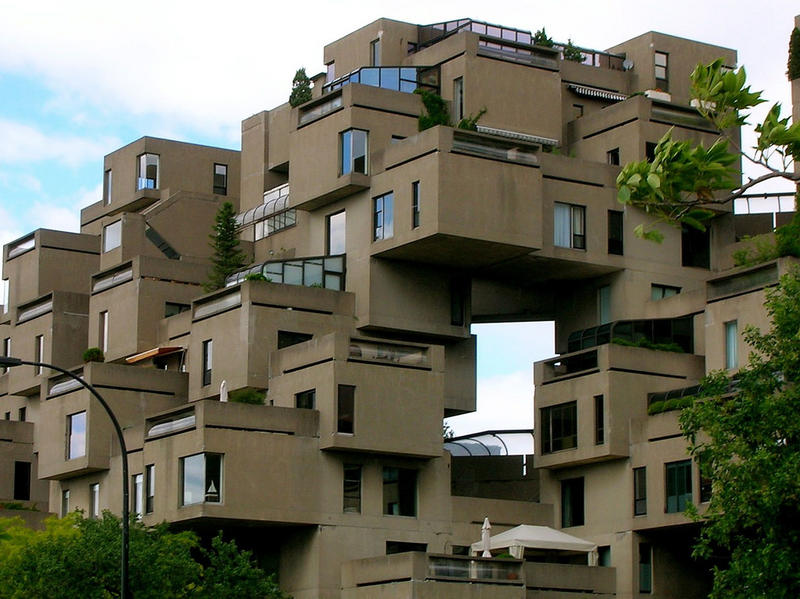 The first building Moshe Safdie ever designed was Habitat 67. The innovative reimagining of apartment living offered gardens in each unit and was intended to make high volume housing more liveable.
