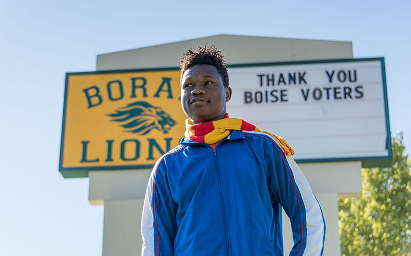 Bahati Sudjona, a high school student in Boise - October 2017