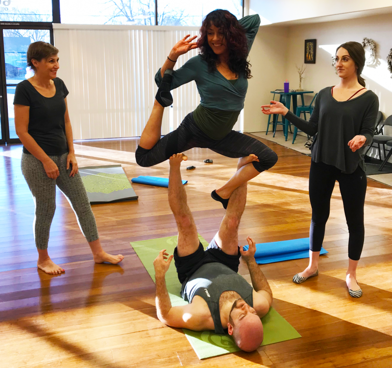 During the winter, the Boise Acro Yoga group rents out space in dance studios. During the warmer months they host their jams outside in parks.