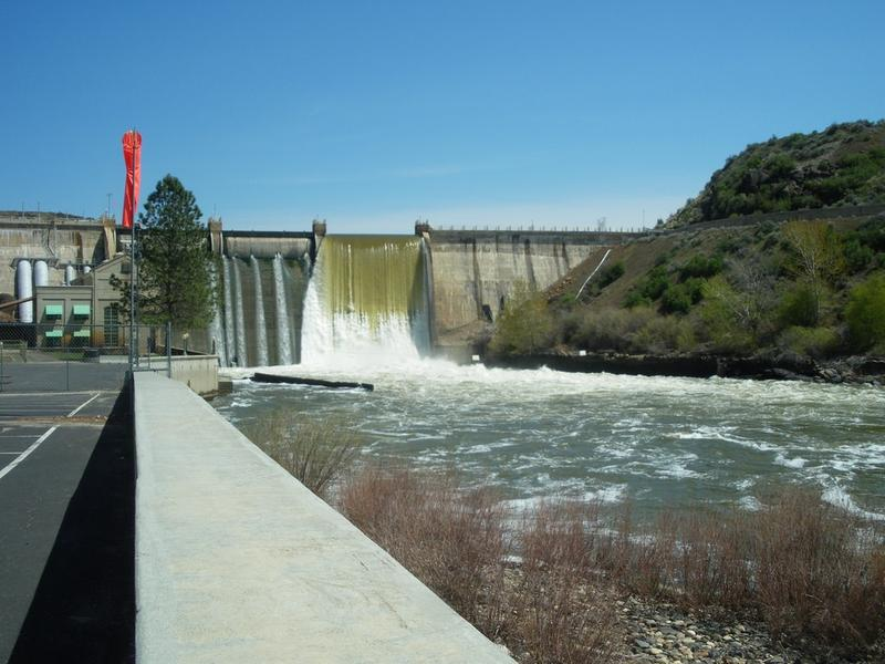 The Black Canyon diversion dam was built in 1924 on the Payette River.