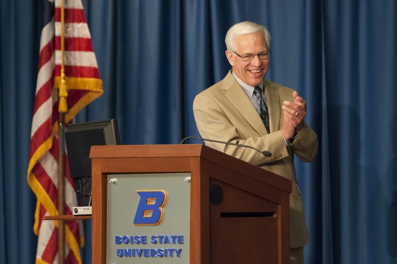 Outgoing Boise State University President Bob Kustra