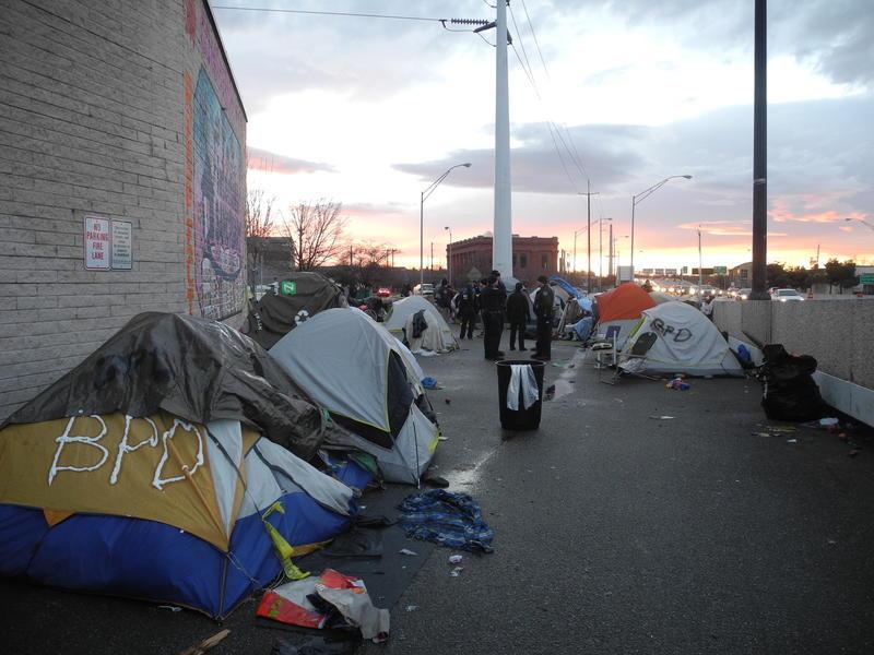 Boise homeless encampment