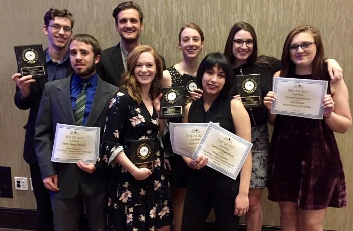 2017/8 Boise State University 'The Arbiter' staff