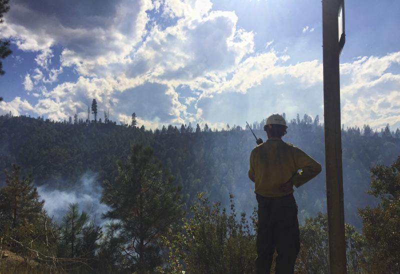 The Pioneer Fire in 2016 threatened the town of Lowman in southern Idaho. Southern Idaho could be in for another busy and dangerous wildfire season in 2018.