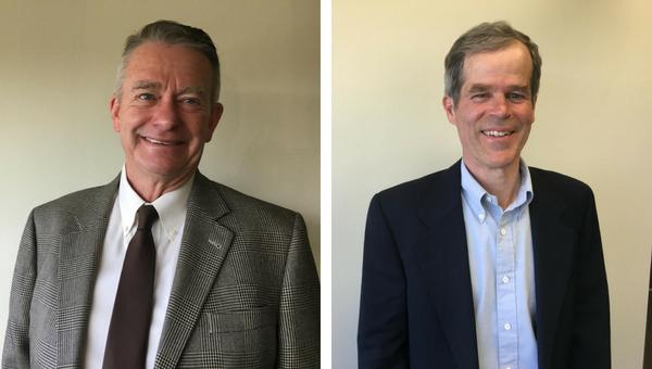 Idaho gubernatorial cadnidates Brad Little, a Republican and Peter Dill, a Democrat.