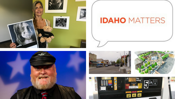 Idaho Republican gubernatorial candidate Lisa Marie / Downtown Caldwell / Indian Creek Plaza artist's rendering / Gas pumps / Idaho Republican gubernatorial candidate Harley Brown