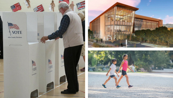 Ada County Elections / Artist's rendering of Idaho College of Osteopathic Medicine / Kids walking