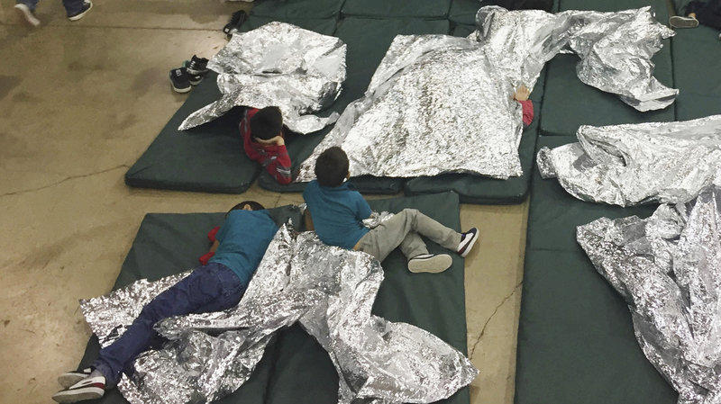 A photo provided by U.S. Customs and Border Protection shows the interior of a CBP facility in McAllen, Texas, on Sunday.