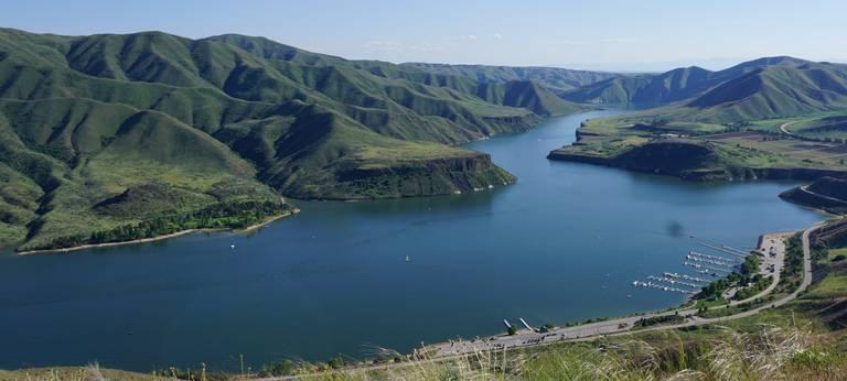 Lucky Peak reservoir is one of three dams in the Boise basin system that controls the flow of water through the Treasure Valley.