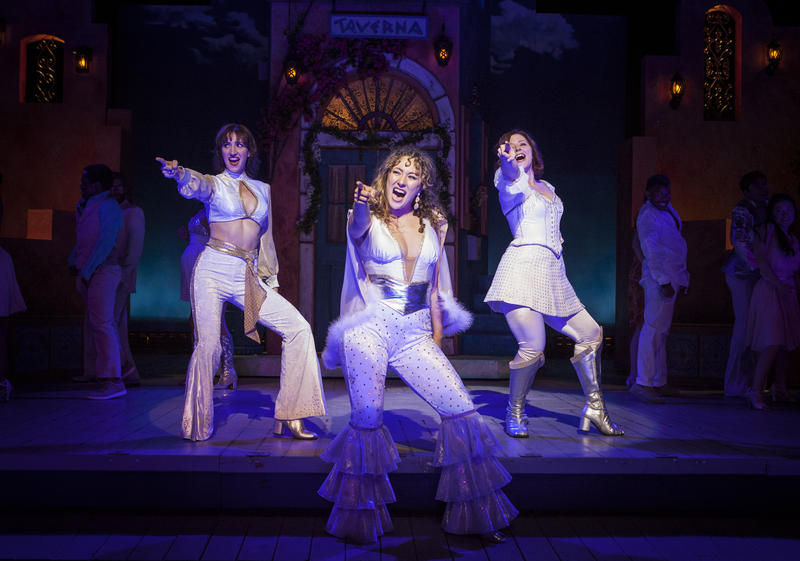 The three ladies of Mamma Mia (left to right), Jodi Dominick, Jillian Kates and Laura Welsh Berg.