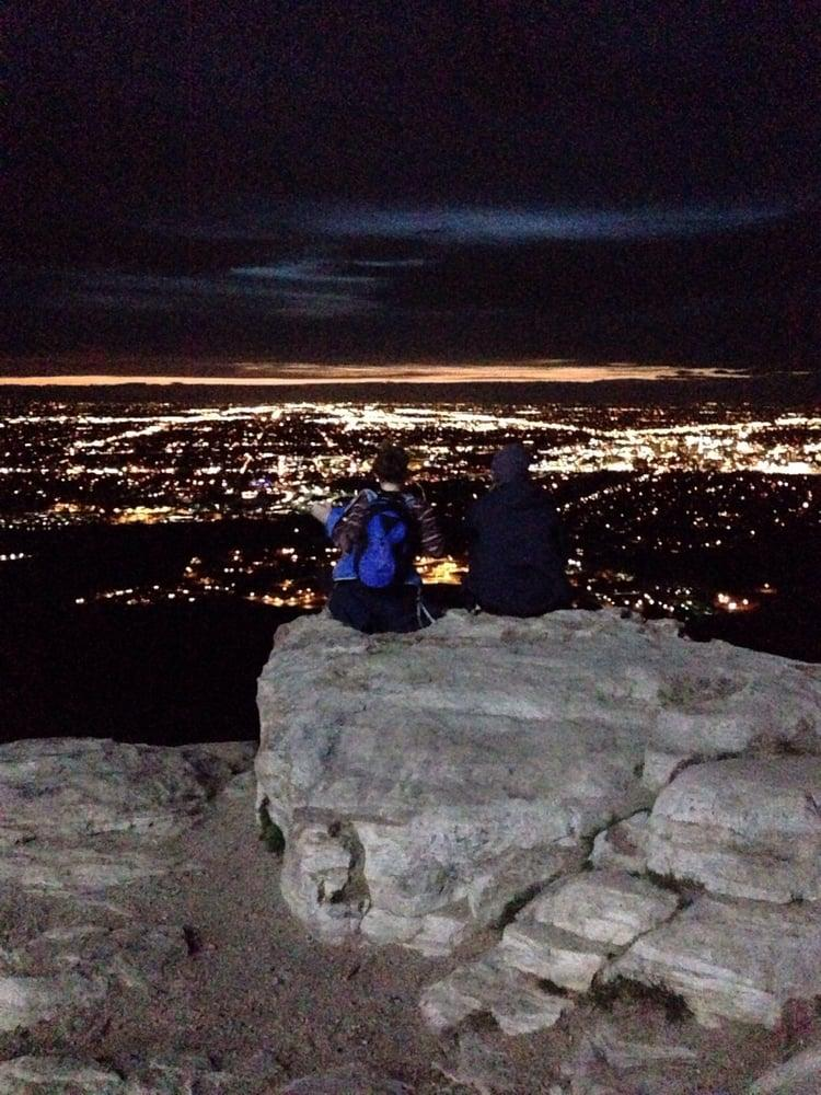 Table Rock at night.