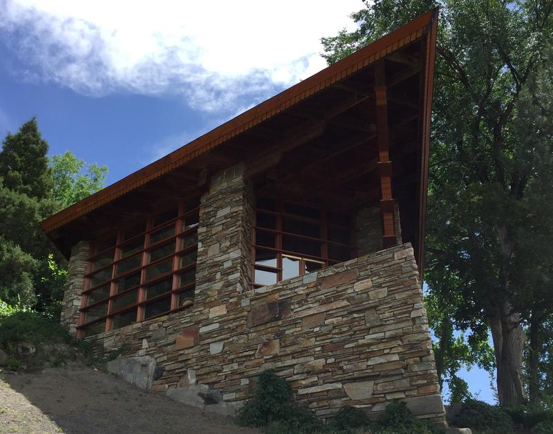 """The so-called """"prow"""" of Teater's Knoll is the defining feature of Frank Lloyd Wright's only building in the Gem State."""