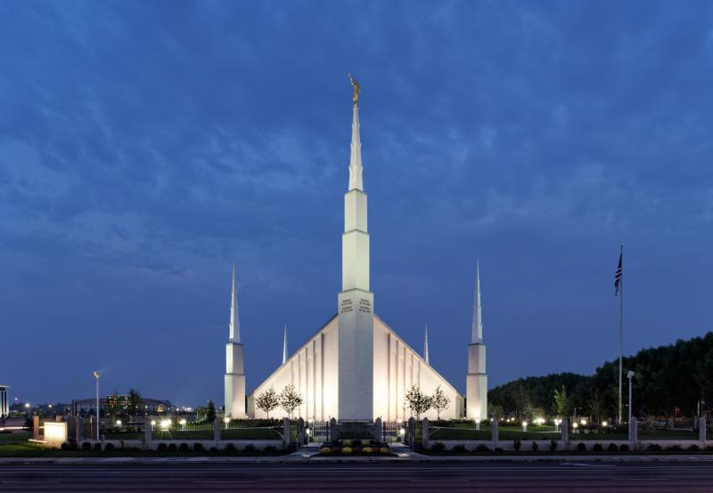 THe LDS Temple in Boise