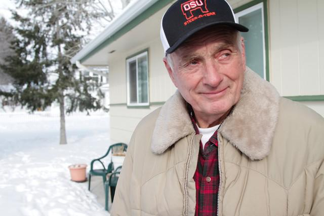 Rancher Dwight Hammond in Burns, Oregon on January 2nd 2016. The Hammonds' prison sentence was what sparked the armed occupation of the Malheur National Wildlife Refuge in 2016.