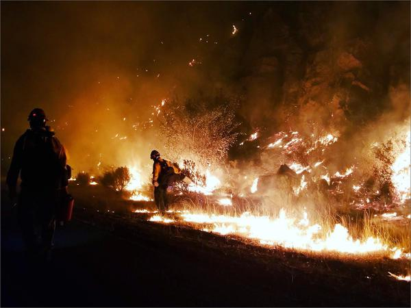 File photo of the Chelan Hills Fire in Washington.