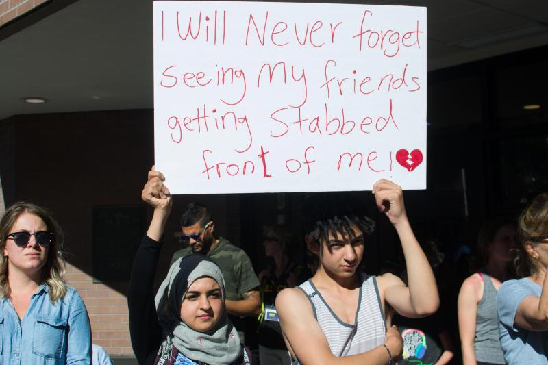 16-year-old Younis Kamel, right, says he witnessed the mass stabbing attack in June.
