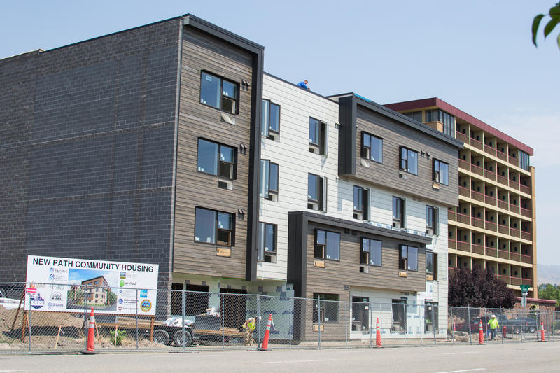The current construction state of New Path Community Housing, a housing-first project to combat homelessness.