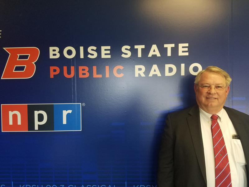 Idaho Secretary of State Lawerence Denney visited the BSPR studios.