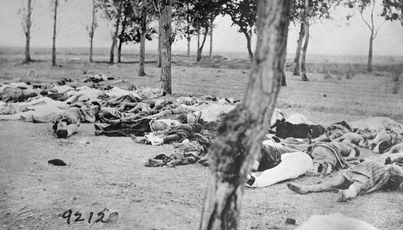 About 1.5 million Armenians were killed by the Ottoman Empire between 1914 and 1923.