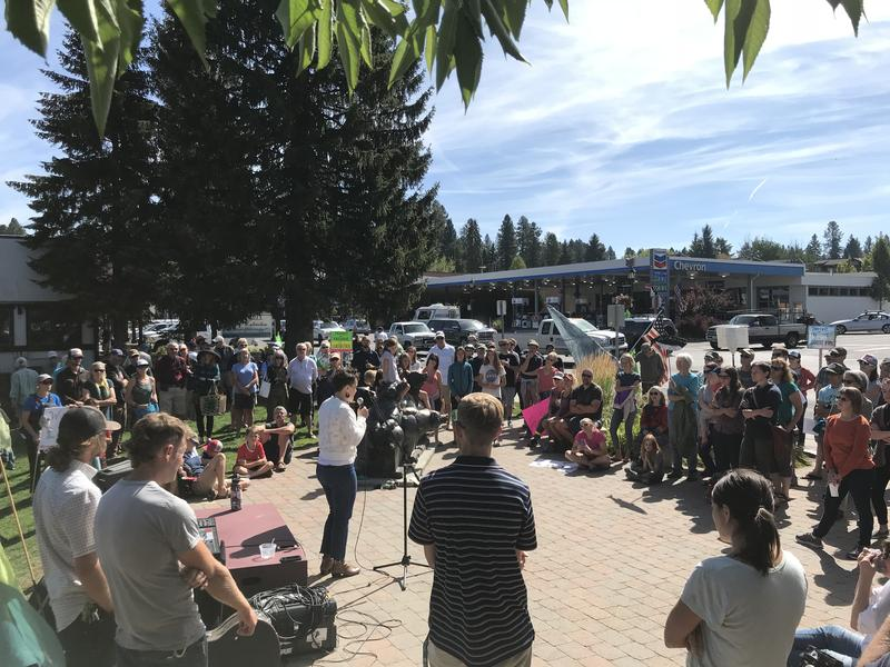 Attendees of Saturday's rally included river users, fishermen and McCall area residents