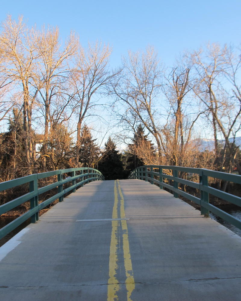 This bridge in Ann Morrison Park links up to a stretch of Boise Greenbelt aquired with LWCF funds.