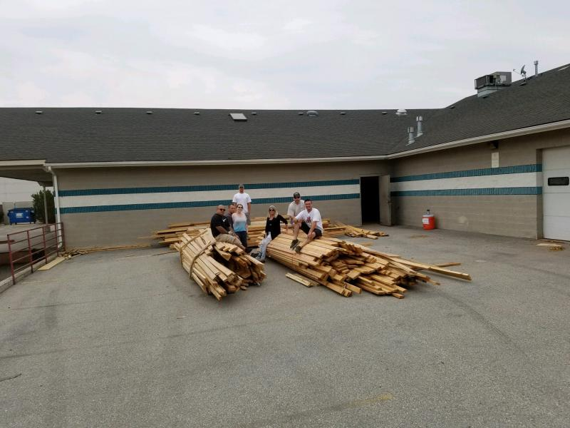 Nampa Habitat for Humanity and the Nampa Community Reentry Center contributed building materials for the  Special Olympics Idaho Training For Life center.