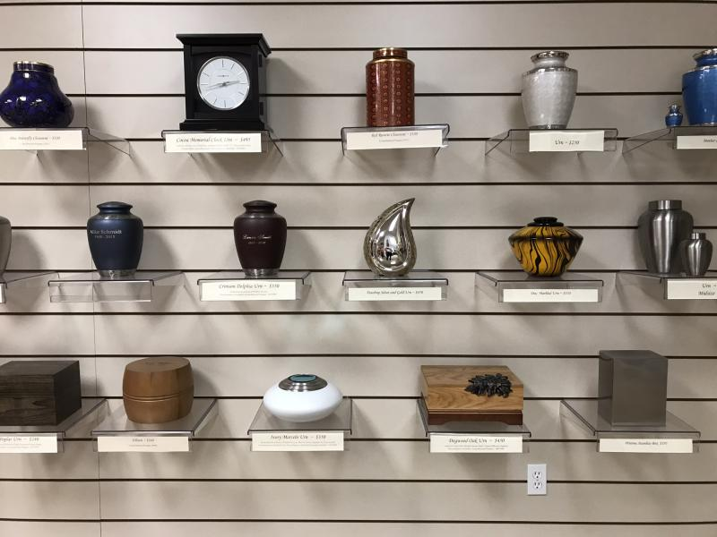 The Cremation Society of Idaho is tucked off of Overland Road in Boise and offers a wide variety of urns.