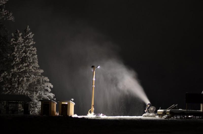 Blowing snow at Bogus Basin.