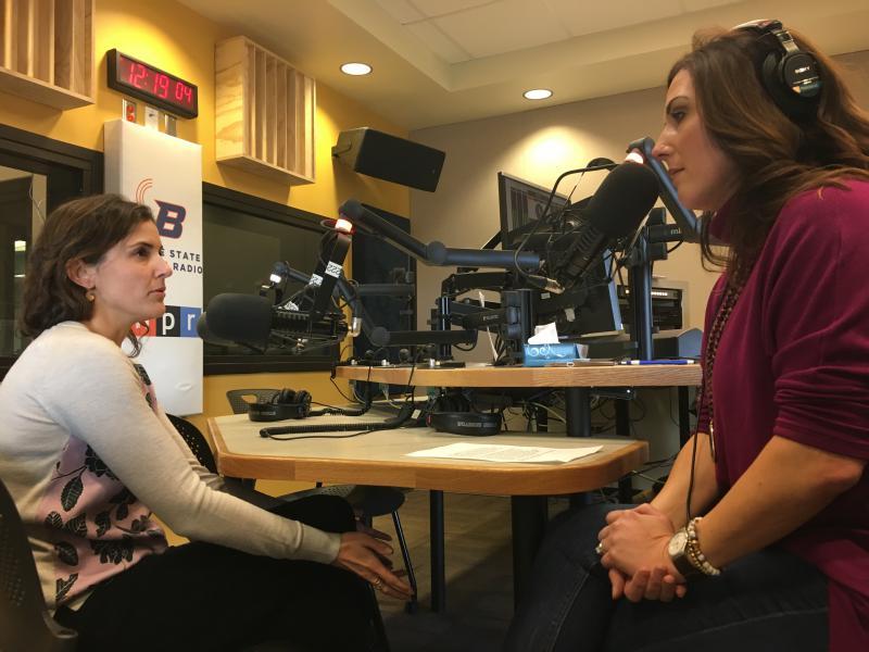 Ada County Commissioner-elect Diana Lachiondo with Gemma Gaudette.