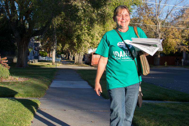 Amy Pratt, Idahoans for Healthcare, Medicaid for Idaho, canvas