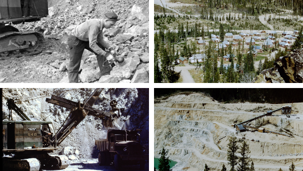 Historical images from the Stibnite Mining District.