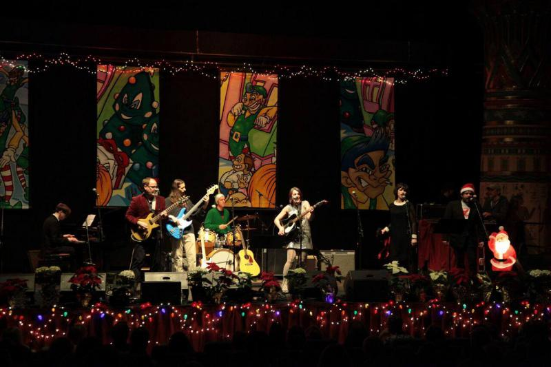 Scene from the 12th Annual Xtreme Holiday Xtravaganza at the Egyptian Theatre in 2017.