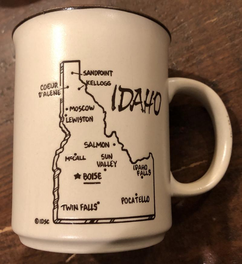 We know you can do a better and more accurate job of drawing the state than this mug. (Really mug?! That's where you think Twin Falls is?!)