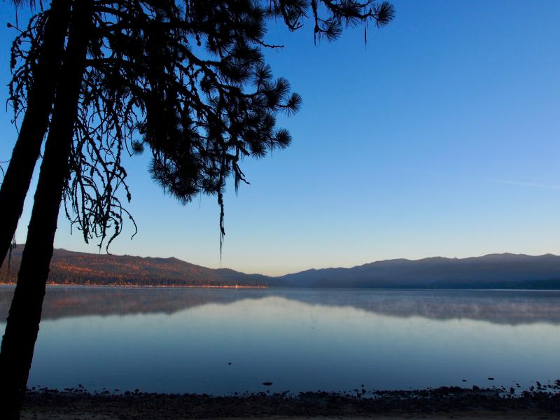 The banks of Payette Lake from McCall, Idaho.