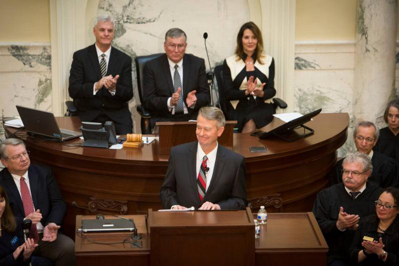 Governor Brad Little delivers his first State of the State on Monday, January 7, 2019.