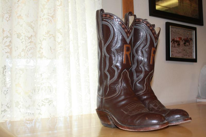 """Cattle rancher Keith Hill's boots are nine years old and without scuffs. He's replaced the soles once, and he says, """"the material is still good enough that it's like new."""""""