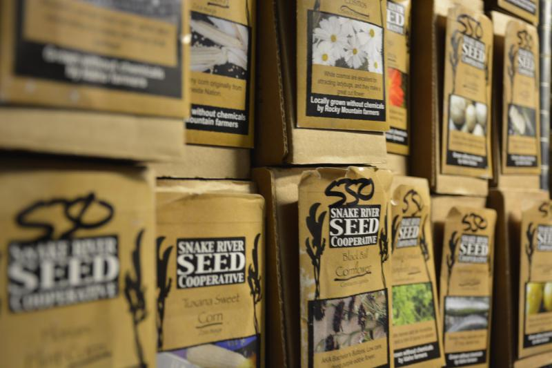 Seed packets from the Snake River Seed Collective.
