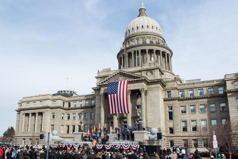 The steps of the Idaho Capitol hosted the inauguration of Brad Little as the state's 33rd Governor.