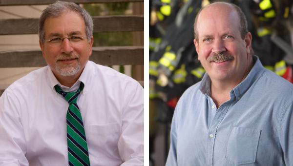 Idaho State Representatives Steve Berch (D-Boise) and Jake Ellis (D-Boise).