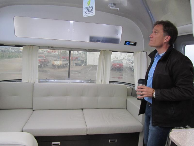 Ted Davis, Owner of Airstream Adventures Northwest, in an International