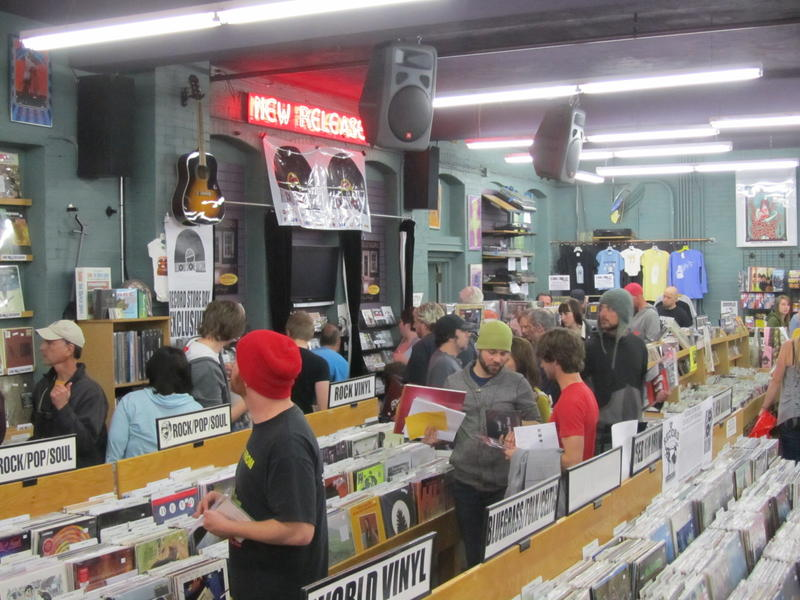Hundreds of shoppers turned out Saturday to celebrate Record Store Day 2012 at Boise's The Record Exchange.