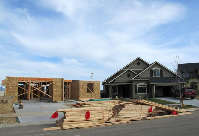 Housing development in Meridian, Idaho.