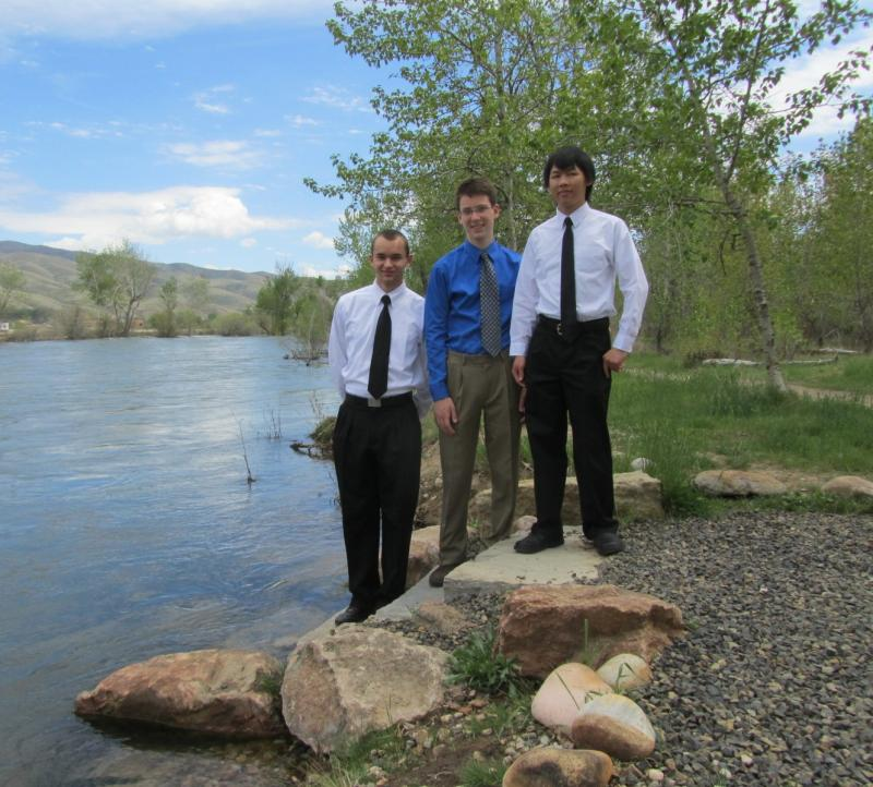 Timberline High School Students William D'Onofrio, Carl Breidenbach, Nathan Wong