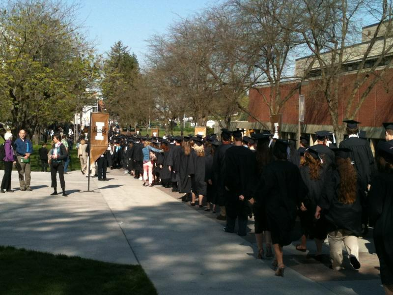 2012 University of Idaho graduates in campus procession